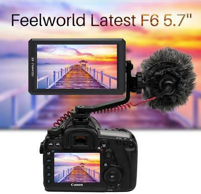 "Full view F6 5.7"" 4K 1920x1080P IPS 170° HDMI Camera Video Monitor w/ Tilt Arm"
