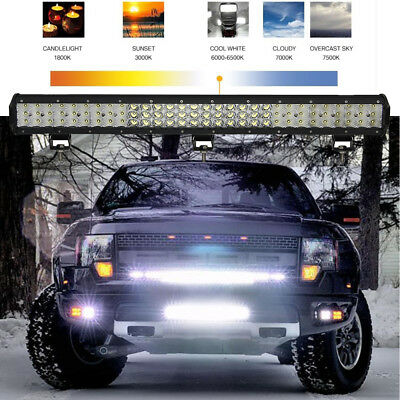 27Inch 960W combo LED Work Light Bar Off road Driving Jeep SUV Truck 28000LM RB