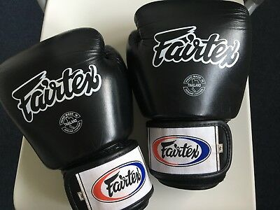 mens black fairtex boxing gloves