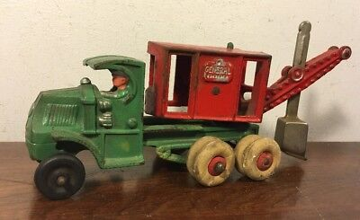 Vintage Hubley Cast Iron General Digger Steam Shovel Construction Toy Mack C Cab