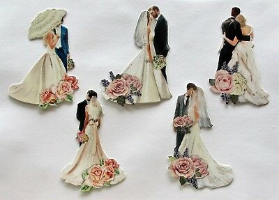 3D Easy Die Cut Card Toppers WEDDING Designs Glltter Hotfoil Cardmaking Type 1