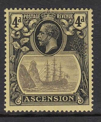ASCENSION-1924-33 4d Grey-Black & Black/Yellow  lightly mounted mint  Sg 15