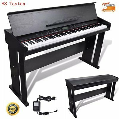88 Tasten Elektro Klavier Digital Piano E-Piano Keyboard + Notenablage 128 Sound