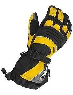CASTLE MENS Yellow RIZER G5 INSULATED COLD WEATHER SNOWMOBILE GLOVES-Medium-NEW
