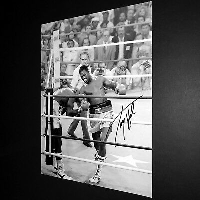 SALE LARRY HOLMES BOXING HAND SIGNED PHOTO AUTHENTIC GENUINE + COA - 16x12