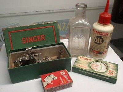Singer Embossed Oil Bottle &  Parts Boxed