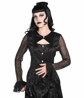 BANNED BLACK FLORAL Lace Rose Gothic Steampunk Bolero