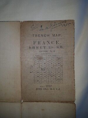 Trench Map Ww1, Messines – 28 S.w., April 1917, 1:20,000