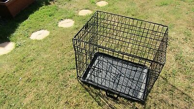 Small Black Pet Dog Carrier Cage in Lovely Condition