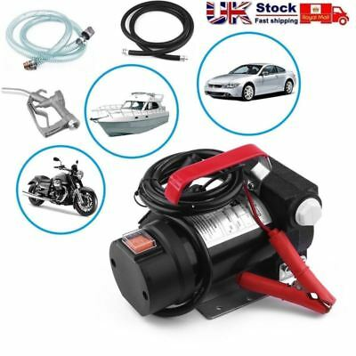 Portable 12V Car Auto Fuel Diesel Oil Fluid Extractor Electric Transfer Pump UK