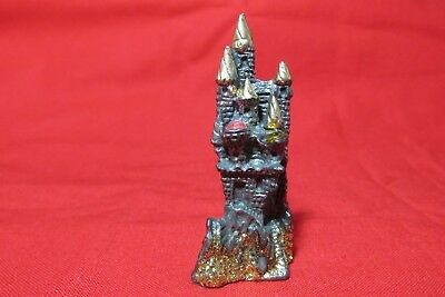 Pewter Castle Fantasy Figurine With Crystals