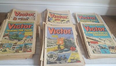 65 Vintage copies of the Victor Comic - all in the 600s - 700s
