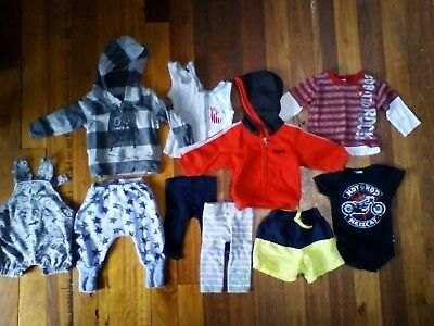 Bulk Baby Boys Clothes 11 Items Size 00 3-6 months. Lonsdale, Bonds, Minti &more