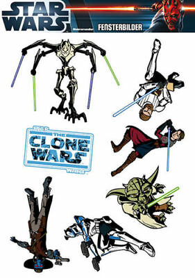 Fensterbild Fenstersticker Star Wars Close Wars bunte Motive Kinder Deko
