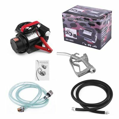 Portable 12V Diesel Fluid Extractor Electric Transfer Pump Car Fuel with Nozzle