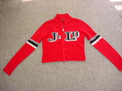 Jennifer Lopez J LO zipper up Sweater female medium