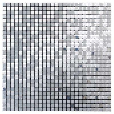 Self Adhesive Mosaic Tile Silver 29cm x 29cm x 0.4cm (one sheet) each tile 1cm