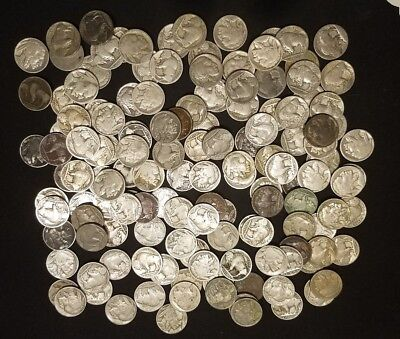 Lot of (140) Buffalo Nickles - Various Dates Lot 125 have Full Dates!