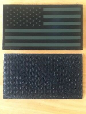 ONE USGI left shouler IR flag , USA 3 1/2 × 2 , hook & loop