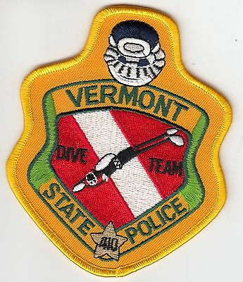 Vermont State Police Dive Team Shoulder Patch Vt