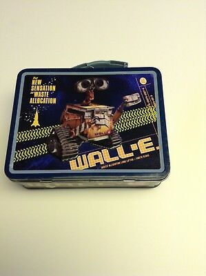 Pixar Films Wall E Tin Collectible Metal Lunch box