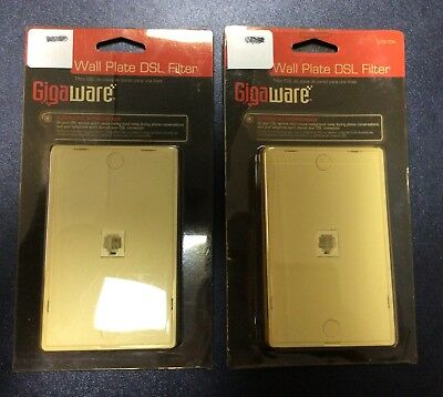 Lot Of 2 Gigaware 279-104 Wall Plate DSL Filter