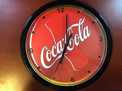 Coca-cola wall clock- RED USED does not work