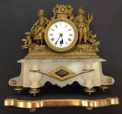 Antique Mantel Clock, Key Winding, Good Working
