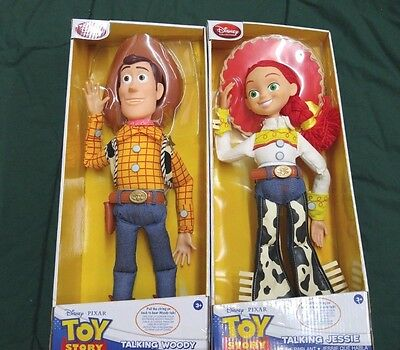 "Disney / Pixar Talking Toy Story Woody & Jessie 16"" Dolls NIB 170723"