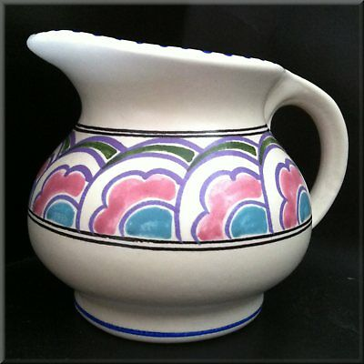 A Vintage, Hand Painted, Honiton Pottery Jug; Made in Devon. Excellent Condition