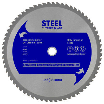 "Evolution (EVOSAW355) Replacement Saw Blade - Steel Blade 14"" (355mm)"