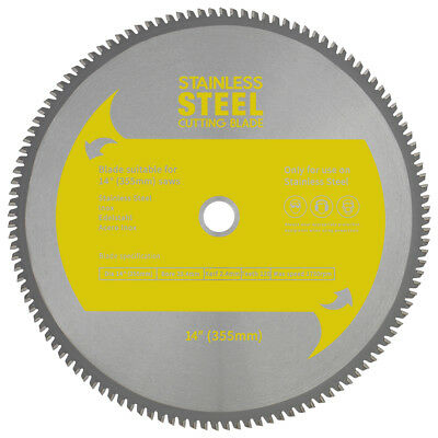 "TCT Stainless Steel Blade 14"" (355mm) to Suit EVOSAW355 Evolution 355mm Chop Saw"