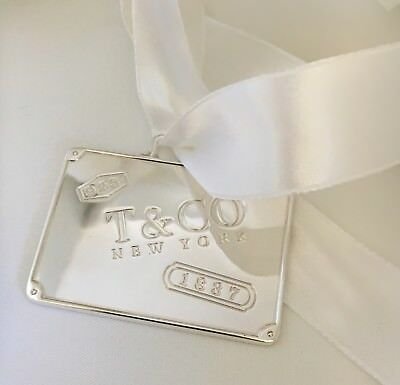 Tiffany & Co Sterling Silver 1837 Holiday Luggage Ornament LARGE