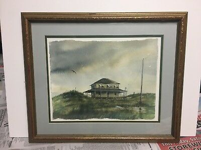 OUTER BANKS SEASCAPE Pisani Painting, Beach House Watercolor Art