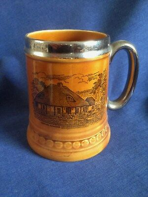 Lord Nelson Pottery. Tankard. Larkstone Ilfracombe. Disneys Old Thatched Inn.