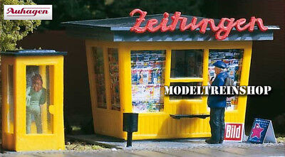 Auhagen 12340 Newspaper stand with telephone booth - Kiosk - H0 Scale 1:87