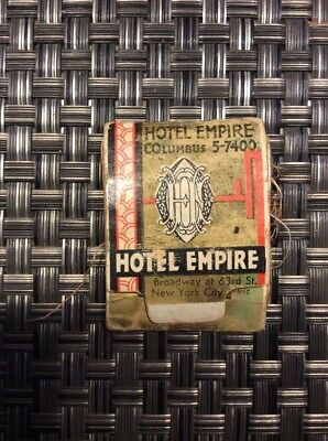 c1930 VINTAGE HOTEL EMPIRE BROADWAY NEW YORK CITY NY MATCHBOOK SEWING KIT