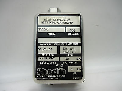 Shadin 9200-T High Resolution Altitude Converter - Used Avionics
