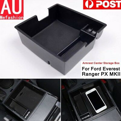 Ford Everest Ranger PX MKII Center Console Armrest Storage Tray + Rubber Mat