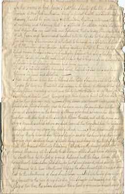 """Period Copy 1742 Will of John Schuyler """"bequeth...all the Negros, Negro Wenches"""""""
