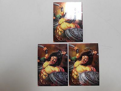 1995 Conan III All-Chromium promo card lot of 3! (Comic Images)! NM/MN! LOOK!