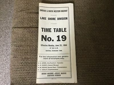 Vintage Chicago and Northwestern Railway time table and historic documents