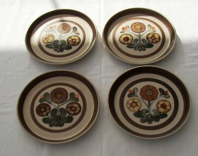 Denby Langley Mayflower four tea plates