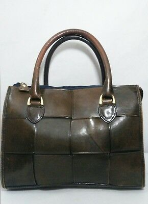 PARADOX Vintage Brown Thick Weaved Genuine Leather Satchel Doctor Style Bag