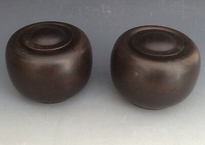 Rare pair 18th Century Chinese Opium Jars