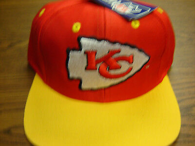 """KC Chiefs Embroider Front & Back Logo's  """"VERY NICE""""  1994 Vintage Logo 7 Caps"""