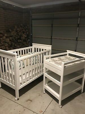 Refurbished Baby Cot And Change Table