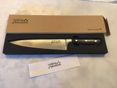 "Brand New Cooking Pleasures C1601A Full Tang 13.25"" Chef's Knife Black Handles"