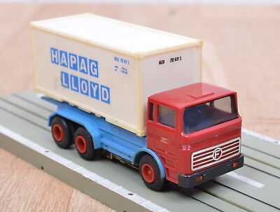 "Faller AMS 4880/5780/5415 LKW Mercedes Benz + Container ""Hapag Lloyd"" / 1:87"