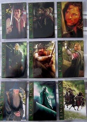 Lord Of The Rings Mexican Card Sets. Complete